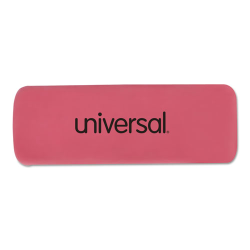 Bevel Block Erasers, Rectangular, Small, Pink, Elastomer, 20/Pack