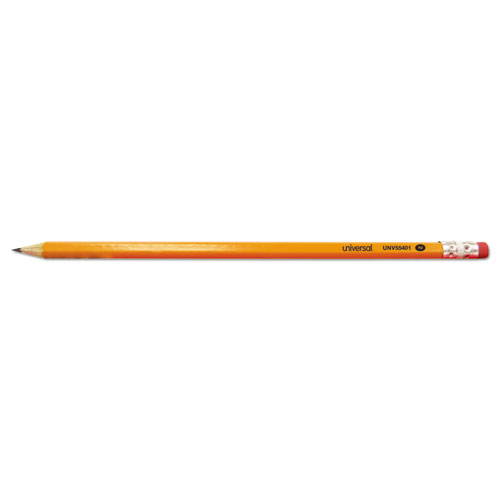 2 Pre-Sharpened Woodcase Pencil, HB (2), Black Lead, Yellow Barrel, 24/Pack