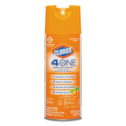 4-in-One Disinfectant & Sanitizer, Citrus, 14oz Aerosol