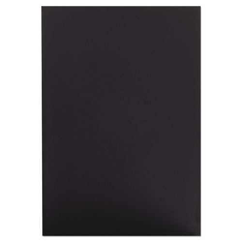 CFC-Free Polystyrene Foam Board, 20 x 30, Black Surface and Core, 10/Carton | by Plexsupply