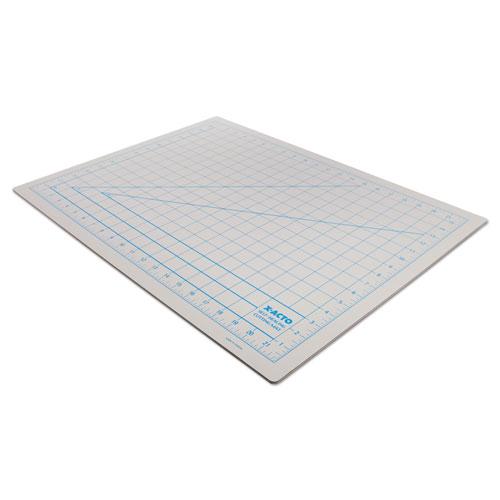 "Self-Healing Cutting Mat, Nonslip Bottom, 1"" Grid, 18 x 24, Gray | by Plexsupply"