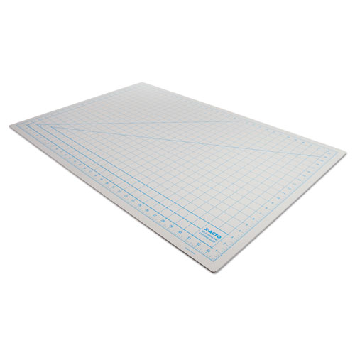 "Self-Healing Cutting Mat, Nonslip Bottom, 1"" Grid, 24 x 36, Gray 