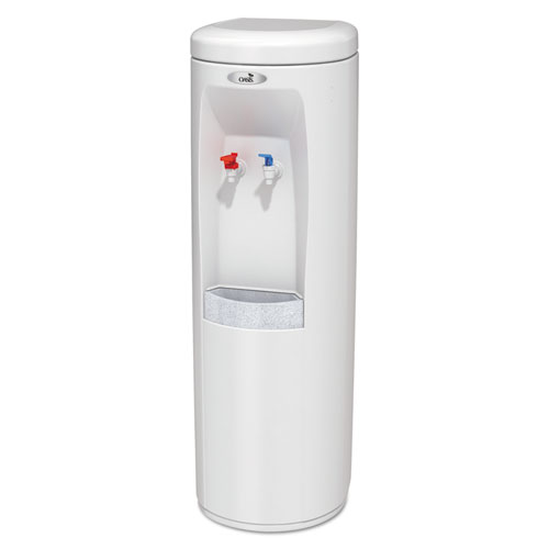 Atlantis Floorstand Hot N Cold Water Cooler, 177 oz/Cold Water per Hour 270 oz/Hot Water per Hour, White