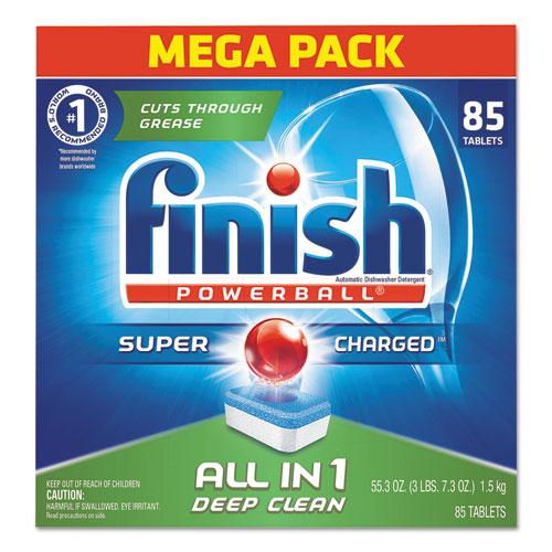 FINISH® Powerball Dishwasher Tabs, Fresh Scent, 85/Box