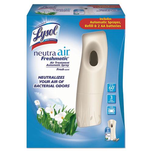 LYSOL® NEUTRA AIR® FRESHMATIC® Starter Kit, Fresh Scent, 5.89 oz, 4/Carton