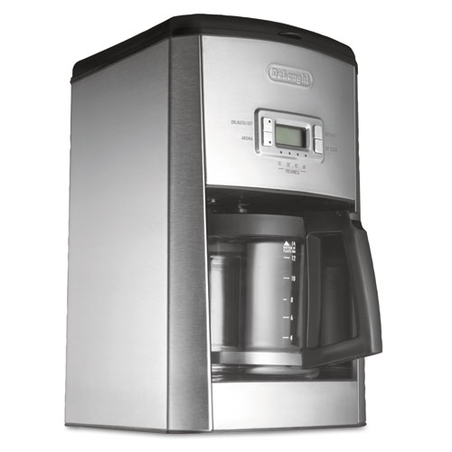Ovastar Drip Coffee Maker Black & Silver : DeLONGHI DC514T 14-Cup Drip Coffee Maker, Stainless Steel, Black/Silver DLODC514T iBuyOfficeSupply