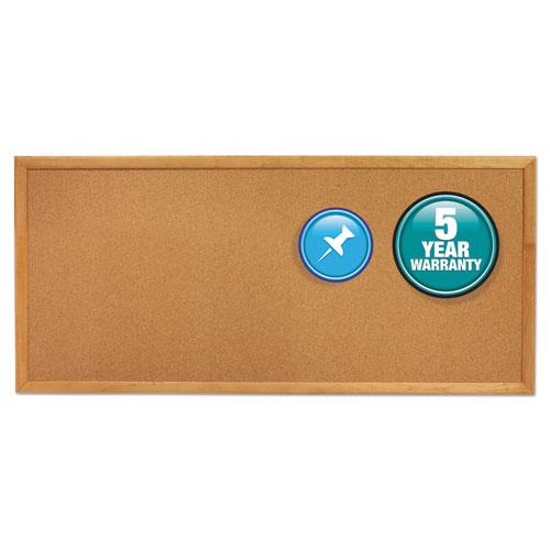 Classic Series Slim Line Cork Bulletin Board By Quartet