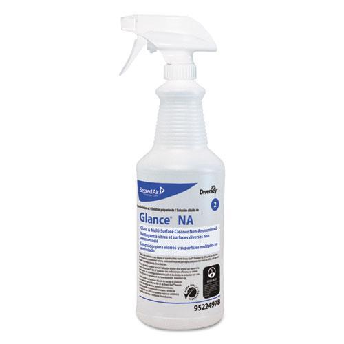 Diversey™ Glance NA Spray Bottle, 32 oz, Clear, 12/Carton