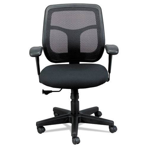 """Apollo Mid-Back Mesh Chair, 18.1"""" to 21.7"""" Seat Height, Black"""