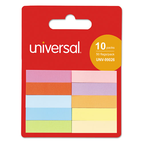 Self Stick Pop Up Page Tab, 1/2in. x 2in., Assorted Colors, 500/Pack 99026