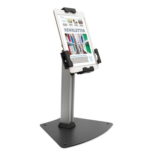 Tablet Kiosk Desktop Stand for 7 to 10 Tablets, Silver