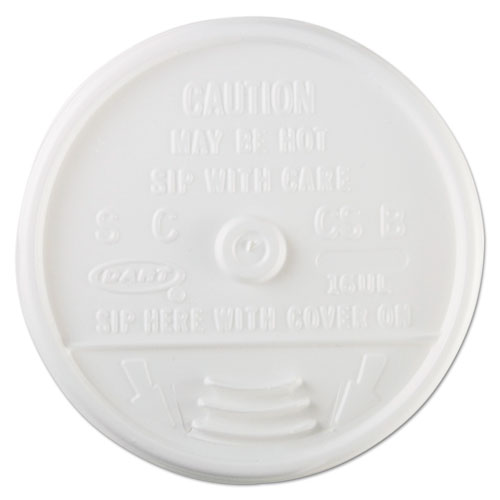 Plastic Lids, for 16oz Hot/Cold Foam Cups, Sip-Thru Lid, White, 1000/Carton 16UL