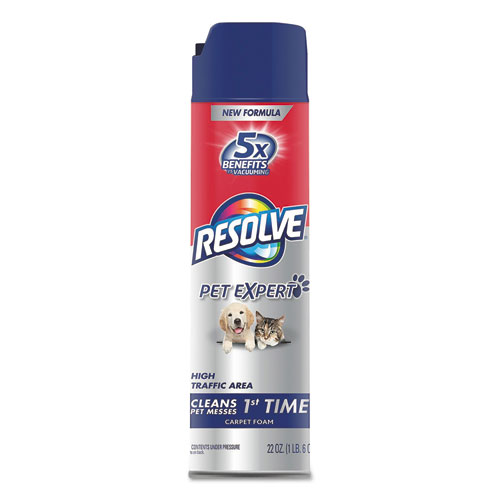 Resolve Pet High Traffic Foam Carpet And Upholstery Cleaner 22 Oz