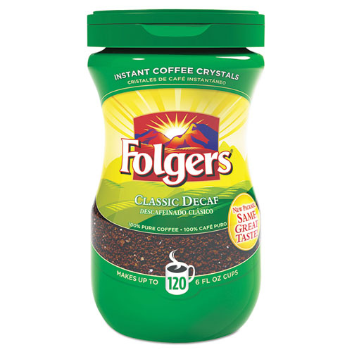 Folgers® Instant Coffee Crystals, Decaf Classic, 8 oz