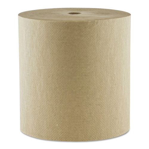 "Morcon Paper Hardwound Roll Towels, 1-Ply, 8"" x 800 ft, Kraft, 6/Carton"