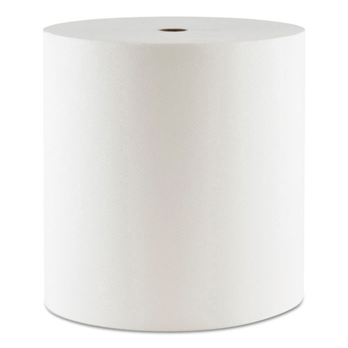 "Morcon Paper Hardwound Roll Towels, 1-Ply, 7.5"" x 550 ft, White, 6/Carton"
