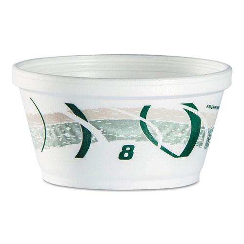 "Dart® Foam Container, 4.2"" x 2.1"", Green/Gray, 1000/Carton"