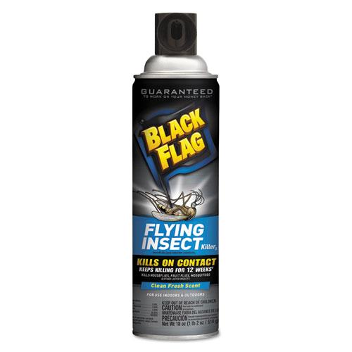 Diversey™ Black Flag Flying Insect Killer 3, 18 oz Aerosol, Fresh, 12/Carton