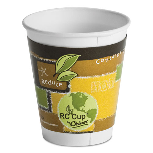 Insulated Hot Cups, 12 oz, White, 645/Carton 63500
