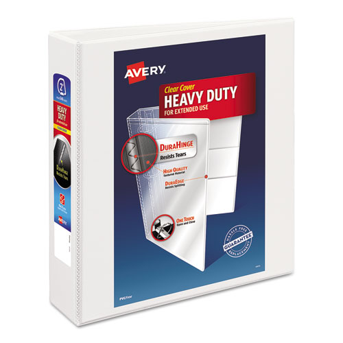 "Avery® Heavy-Duty Non Stick View Binder w/Slant Rings, 2"" Cap, White"