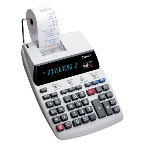 Canon® P170-DH-3 Printing Calculator, Black/Red Print, 2.3 Lines/Sec