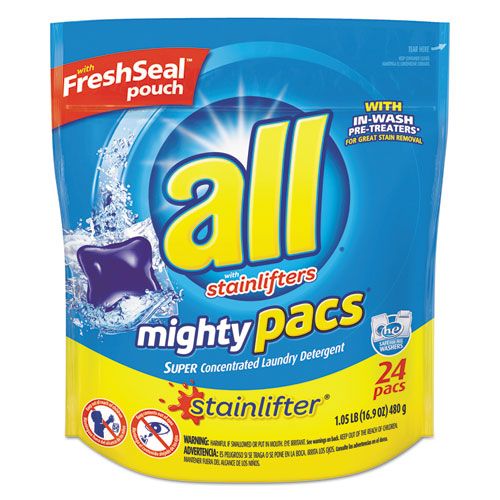 Diversey™ All Mighty Pacs, Liquid Pac, 24 Tabs per Packet, 6 Packet/Carton