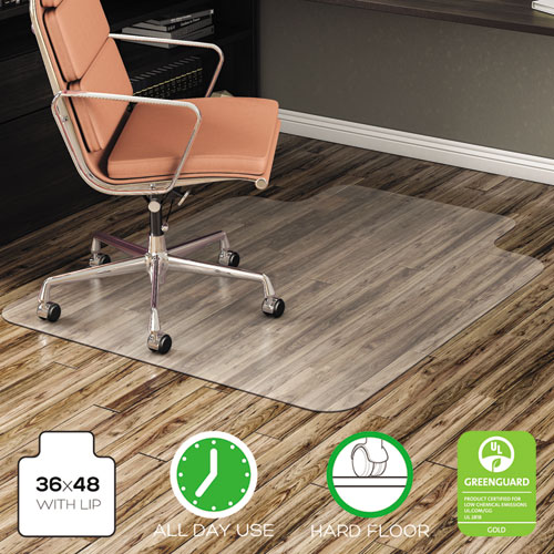 Deflecto Economat All Day Use Chair Mat For Hard Lip 36 X 48