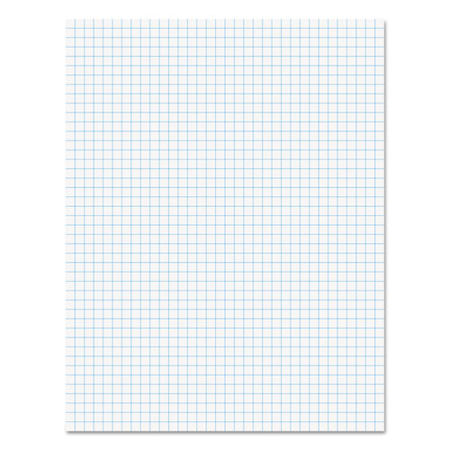 Quadrille-Rule Glue Top Pads, 4 sq/in Quadrille Rule, 8.5 X 11, White, 50 Sheets, Dozen