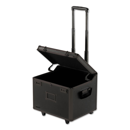 Locking Mobile File Chest, Letter/Legal Files, 17.5 x 15.5 x 14.5, Black