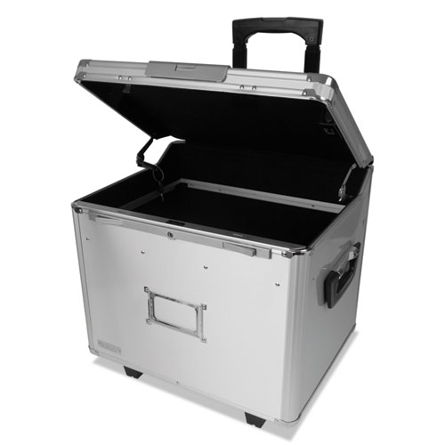 Locking Mobile File Chest with Electronic Digital Lock, Letter/Legal Files, 14.5 x 16.25 x 14.25, Silver