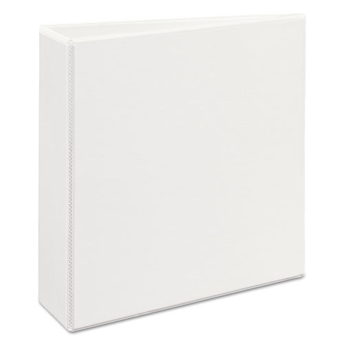 "Heavy-Duty View Binder with DuraHinge and Locking One Touch EZD Rings, 3 Rings, 3"" Capacity, 11 x 8.5, White 