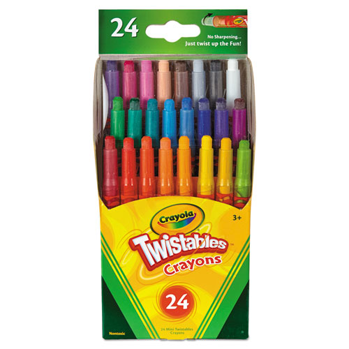 Crayola® Twistables Mini Crayons, 24 Colors/Pack