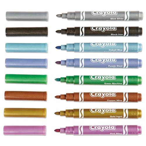 Crayola Metallic Markers Assorted Pack of 8