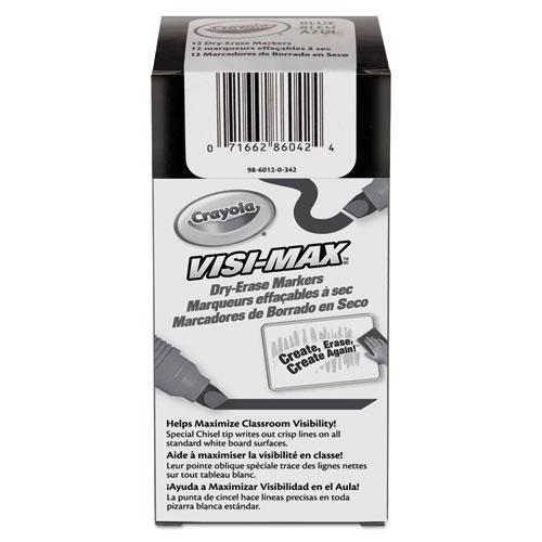 Crayola® Dry Erase Marker, Chisel Tip, Blue, Dozen