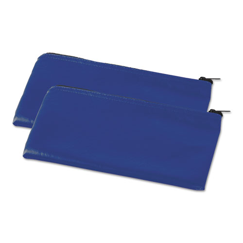 Zippered Wallets/Cases, 11 x 6, Blue, 2 per pack