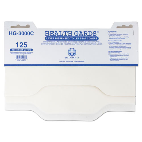 HOSPECO® Health Gards Toilet Seat Covers, 3000/Carton