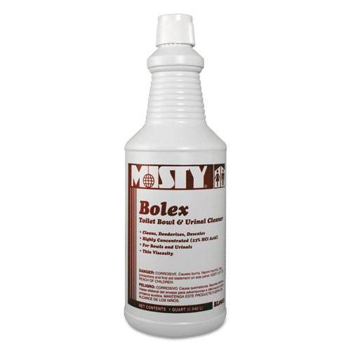 Misty® Bolex 23 Percent Hydrochloric Acid Bowl Cleaner, Wintergreen, 32oz, 12/Carton