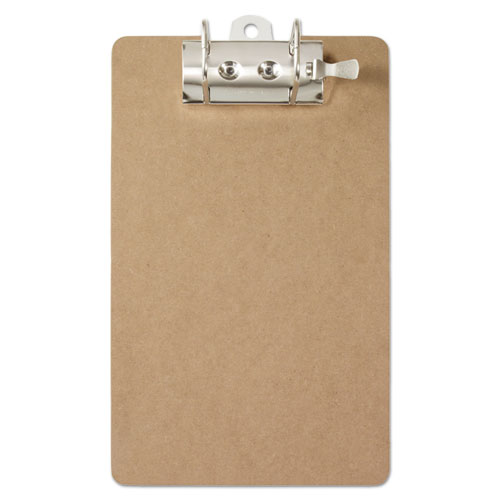 """Recycled Hardboard Archboard Clipboard, 2"""" Clip Cap, 8 1/2 x 12 Sheets, Brown"""