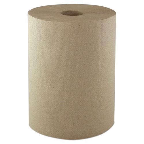 Morcon Paper Hardwound Roll Towels, 1-Ply, 10 x 800 ft, Kraft, 6/CT