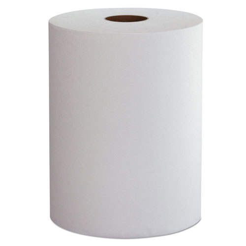 "Morcon Paper Hardwound Roll Towels, 1-Ply, 10"" x 800 ft, White, 6 Rolls/Carton"