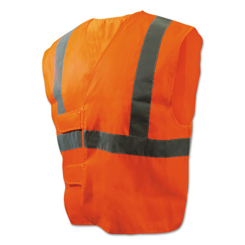 Class 2 Safety Vests, Orange/Silver, Standard