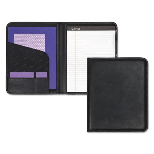 Professional Padfolio, Storage Pockets/Card Slots, Writing Pad, Black