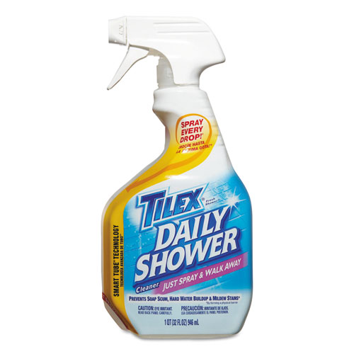 Tilex® Bathroom Cleaner Spray, Fresh, Liquid, 32 oz, 9/Carton