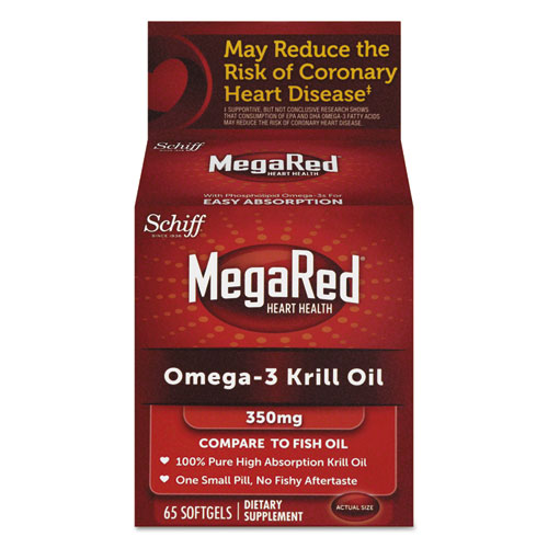 MegaRed® Omega-3 Krill Oil Softgel, 65 Count