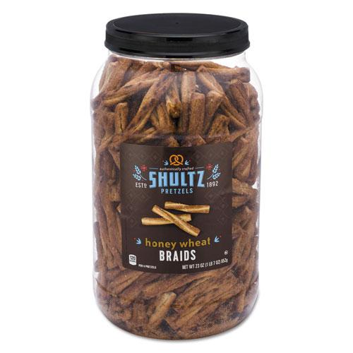 Shultz Pretzels, Honey Wheat, Tub, 1.44 oz