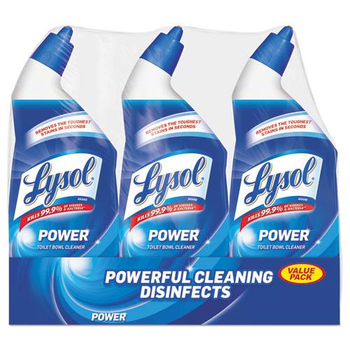 LYSOL® Brand Disinfectant Toilet Bowl Cleaner, Wintergreen Scent, 24 oz Bottle, 3/PK, 4 PK/CT