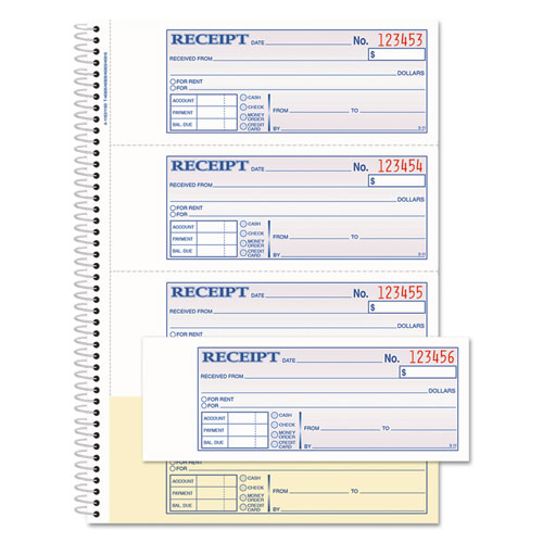 TOPS Money/Rent Receipt Book, 7 1/8 x 2 3/4, 2-Part Carbonless, 200 Sets/Book | by Plexsupply