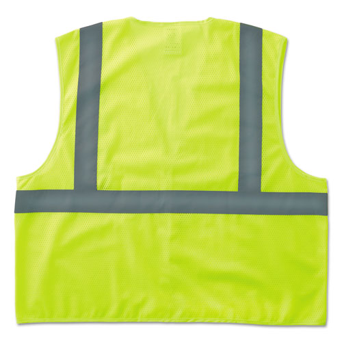 GloWear 8205HL Type R Class 2 Super Econo Mesh Safety Vest, Lime, Large/X-Large | by Plexsupply