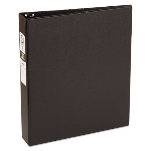 Economy Non-View Binder with Round Rings, 3 Rings, 1.5 Capacity, 11 x 8.5, Black