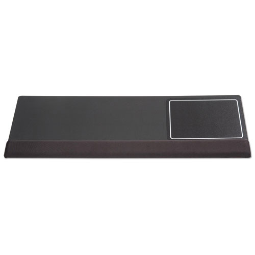 Extended Keyboard Wrist Rest, Memory Foam, Non-Skid Base, 27 x 11 x 1, Black | by Plexsupply